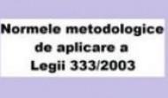 Normele metodologice de aplicare a Legii 333/2003 privind analiza de risc la securitate fizica